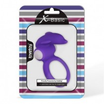 Виброкольцо X-Basic Dolphin Silicone Cockring пурпурное