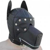 Бондажный шлем-маска пёс