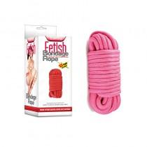 Розовая веревка для бондажа Fetish Bondage Rope