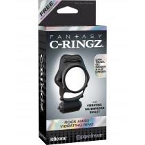 Двойное эрекционное кольцо с вибрацией Fantasy C-Ringz Rock Hard Vibrating Ring