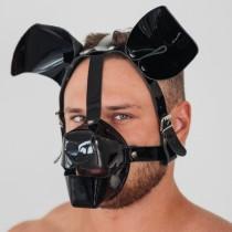 Маска собаки лакированная дог