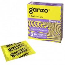 Презервативы Ganzo Sense №3 (Тонкие)